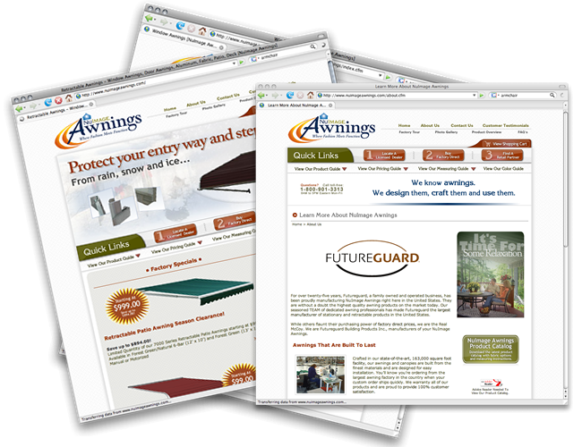Nuimage Awnings Website 423interactive